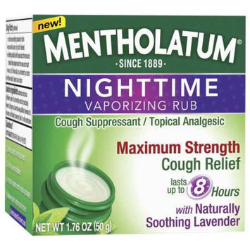 Mentholatum Nighttime Vaporizing Rub Maximum Strength Cough Relief, 1.76 oz