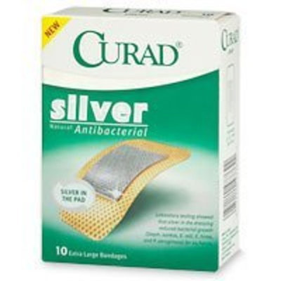 Curad Silver Extra Large Bandages - 10 ea