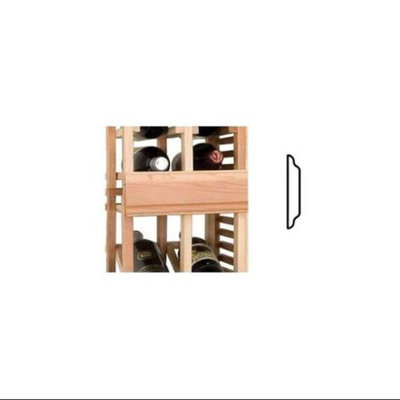 Wine Cellar Innovations Vintner Double Sided OG Center Trim (All-Heart Redwood - Light Stain)