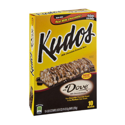 Kudos Dove Milk Chocolate Granola Bars - 10 CT