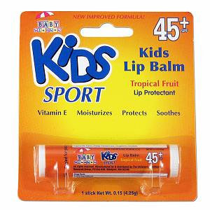 Kids Sport by Baby Blanket Tropical Fruit Lip Balm SPF 45+