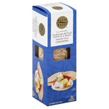Waterthins 3. 5 oz. Organic Wafer Thin Crackers - All Natural, Tuscan - Style Tomato & Basil - Case Of 12