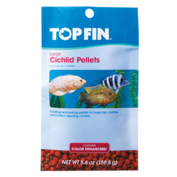 Top Fin Cichlid Color Enhancing Large Pellets Fish Food