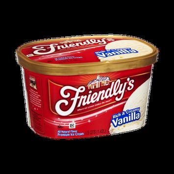 Friendly's Rich & Creamy Vanilla Premium Ice Cream