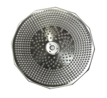 L. Tellier Replacement Grid/Grill Plate S/S, For X3 5 Qt. Mouli Mill - Medium (2.5mm Holes)