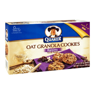 Quaker Oat Granola Raisin Cookies