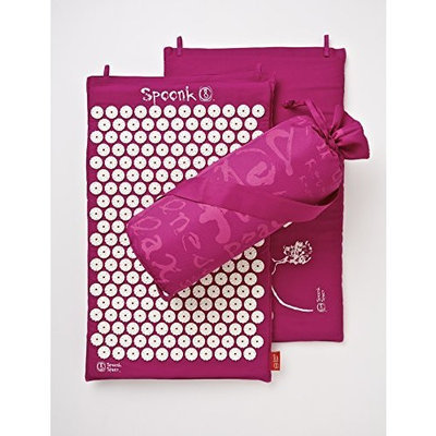 Spoonk Cotton Magenta Acupressure Massage Mat with carry-bag