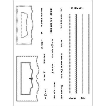 Stamping Scrapping Spellbinders Bracket Basics 2 Matching Clear Stamps