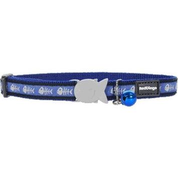 Red Dingo CC-SK-DB-SM Cat Collar Design Fish Bone Blue