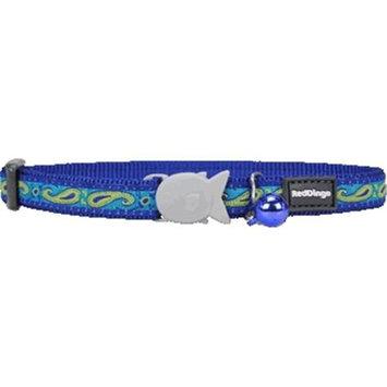 Red Dingo CC-P2-DB-SM Cat Collar Design Green & Blue Paisley