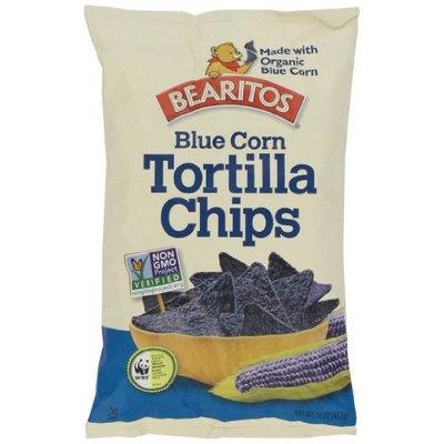 Little Bear Bearitos Tortilla Chips, Blue Corn, 16 Ounce