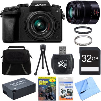 Panasonic LUMIX G7 Interchangeable Lens 4K Ultra HD DSLM Camera 14-42mm Lens Deluxe Bundle