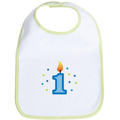 CafePress Newborn First Birthday - Candle (Boy) Bib