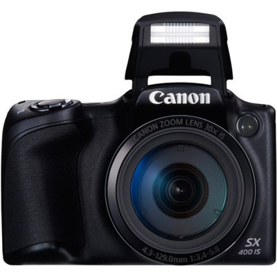 Canon PowerShot SX400 IS Digital Camera with 16 Megapixels and 30x Optical Zoom (Available in Black or Red)