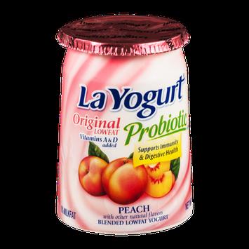 La Yogurt Probiotic Original Low Fat Yogurt Peach