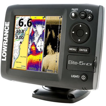 Lowrance Elite-5 Hdi Gold Sonar/GPS Combo