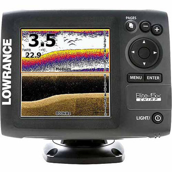Lowrance Elite-5X CHIRP Fishfinder with Transducer