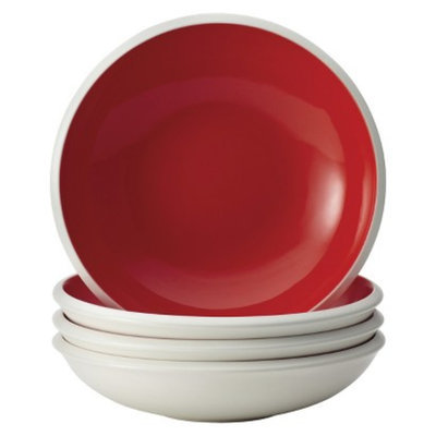 Rachael Ray Rise Soup/Pasta Bowl Set of 4 - Red (25 oz.)