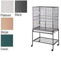 HQ Beige Aviary Flight Cage with Stand, 32 L X 21 W X 60 H