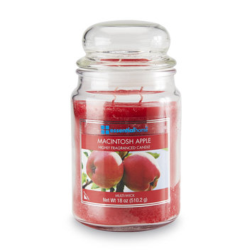 Essential Home 18 Ounce Jar Candle Macintosh Apple - LANGLEY PRODUCTS L.L.C.