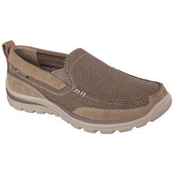 Skechers Men's Superior Milford Memory Foam Moc Toe Slip On Shoes (Light Brown) - 12.0 M