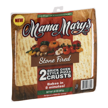 Mama Mary's Brick Oven Style Pizza Crusts Stone Fired - 2 CT