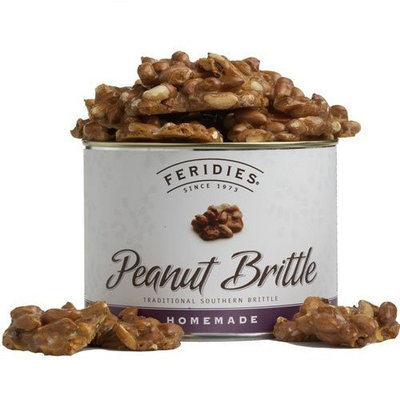FERIDIES Homemade Peanut Brittle, 16-Ounce Cans (Pack of 2)