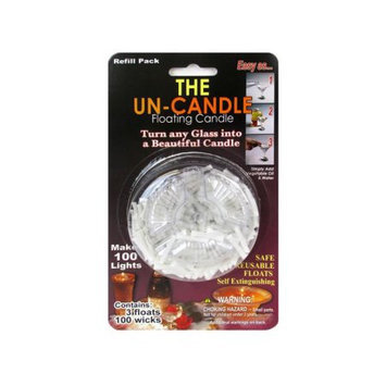 Pepperell PEPFWICK4 Wick Floating Candle The Un-Candle Pack Of 3