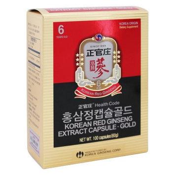 Korean Ginseng - Korean Red Ginseng Extract Capsule Gold - 100 Capsules