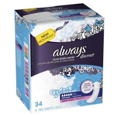 Always Discreet Incontinence Pads Ultimate Absorbency Regular