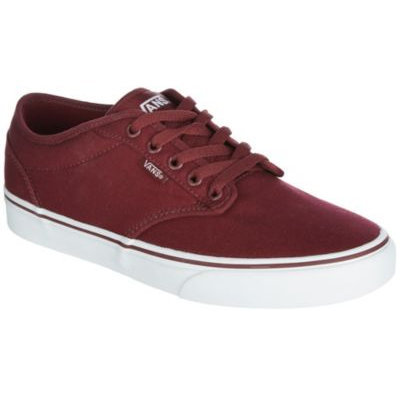 Vans Mens Atwood Maroon Canvas Skate Shoes-9.5,MAROON RED/WHITE
