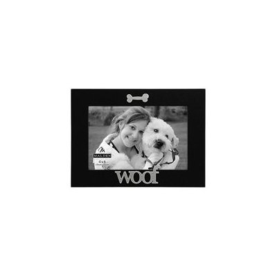 Malden Black Wood Expression Picture Frame, Woof, 4