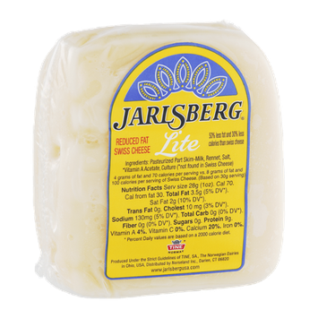 Jarlsberg Lite Swiss Cheese Reduced Fat