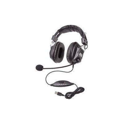 Ergoguys CALIFONE HEADSET W/ BOOM MIC VOLUME CONTROL USB PLUG VIA ERGOGUY