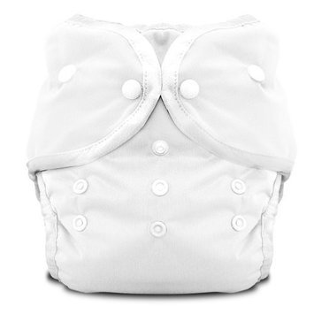 Thirsties Duo Diaper Snap, White, Size Two (18-40 lbs)