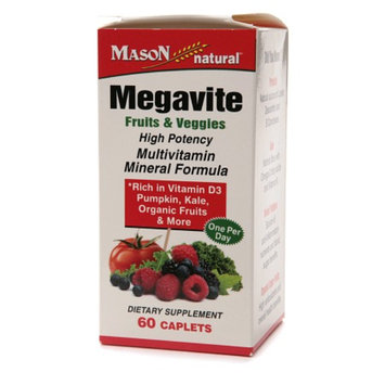 Mason Natural Megavite Fruits & Veggies Multivitamin