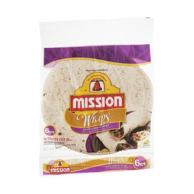 Mission Wraps Zesty Garlic Herb - 6 CT