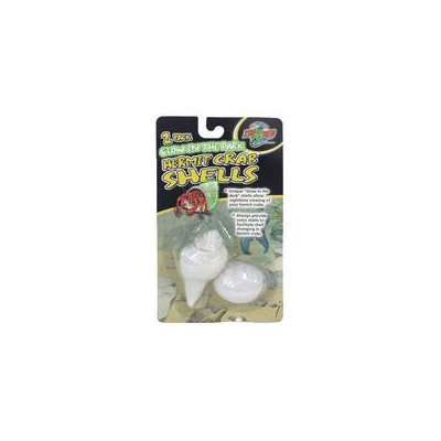 Zoo Med Hermit Crab Glow in the Dark Shells, Pack of 2 Shells