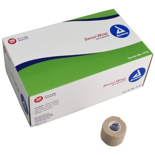 Dynarex YDS Sensi-Wrap Self Adherent Bandage, 2 Inches x 5 Yards, 36 Count (Pack of 36)