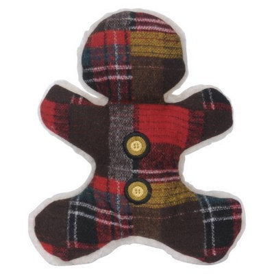 HuggleHounds Wooly Madras Man, Red