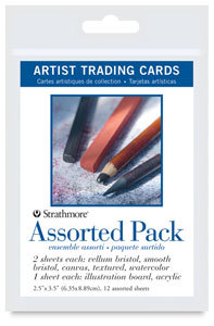 Strathmore Artist Trading Cards assorted pack of 12
