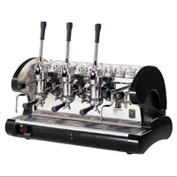 La Pavoni Commercial Pull Lever Espresso Machine 3 Groups (Black)
