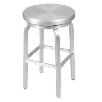 Eurostyle Counter Stool: Euro Style Milton-C Swivel Counterstool - Aluminum