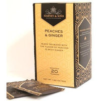 Harney & Sons Harney and Sons Peaches & Ginger, Flavored Black 20 Teabags per Box
