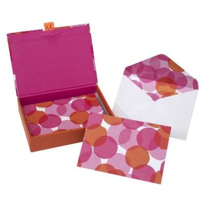 Gartner Studios Notecard Box 12CT ORANGE/PINK DOTS