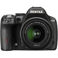 Pentax K-50 DSLR Camera Kit with L18-55 WR Lens, Black