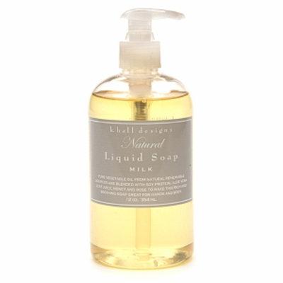 k. hall designs Natural Liquid Soap, Milk, 12 fl oz