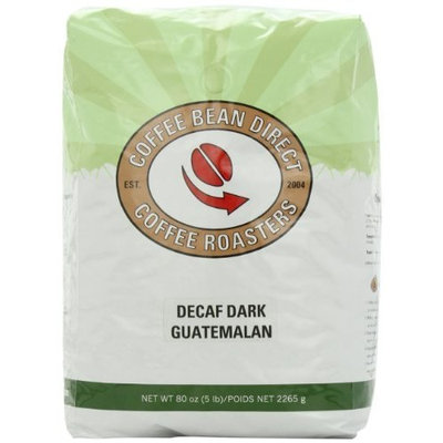 Coffee Bean Direct Decaf Dark Guatemalan, Whole Bean Coffee, 5-Pound Bag
