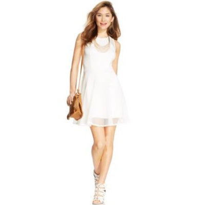 Day Party Girl Fit-And-Flare Dress & Wedge Sandals Look