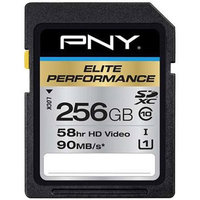 PNY 256GB Elite Performance SDXC Class 10 Memory Card